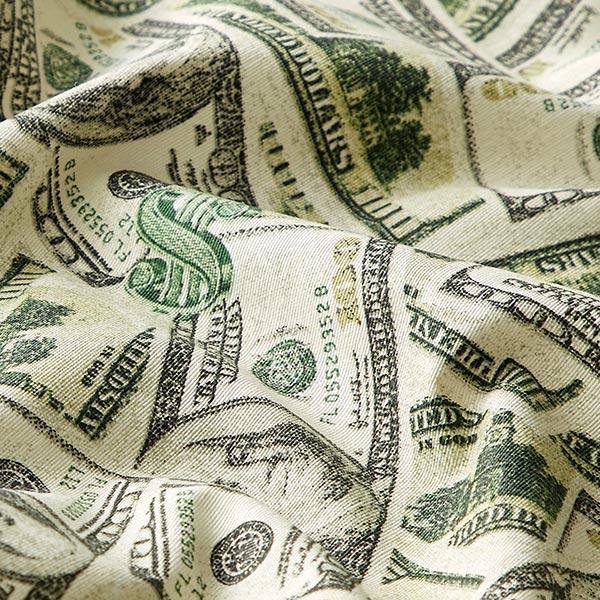 Tissu de décoration ottomane Dollar – vert