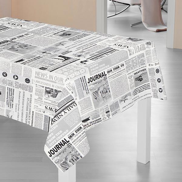 Tissu de décoration ottomane News – blanc/gris