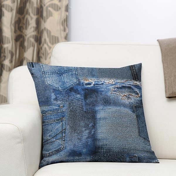 Tissu de décoration ottomane Jeans – bleu