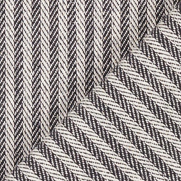 Tissu d'ameublement Jacquard Bande – noir