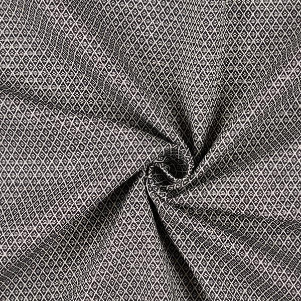 Tissu d'ameublement Jacquard Minirute – noir