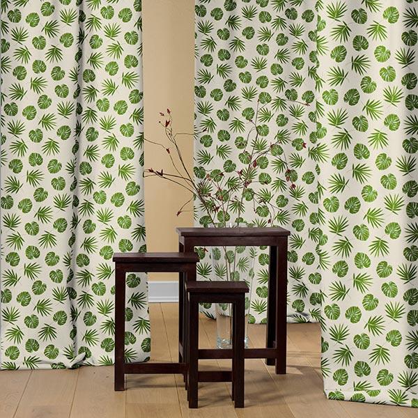 Tissu de décoration Semi-panama Palmier – nature