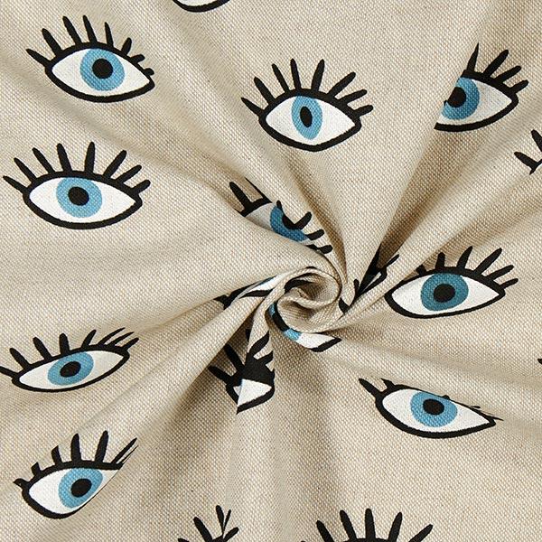 Tissu de décoration semi-panama Yeux – sable