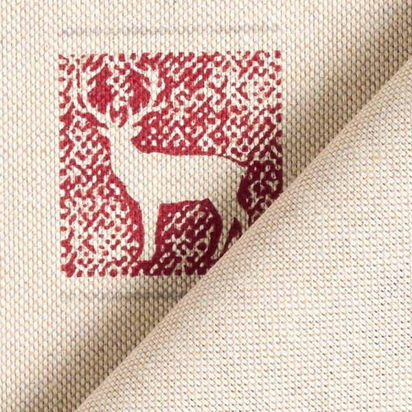 Tissu de décoration Semi-panama Renne dans la boîte – beige foncé