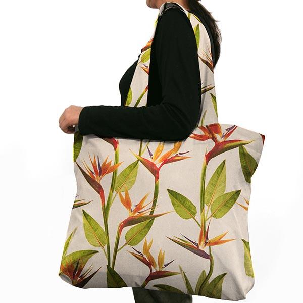 Tissu de décoration semi-panama Fleur Perroquet – nature