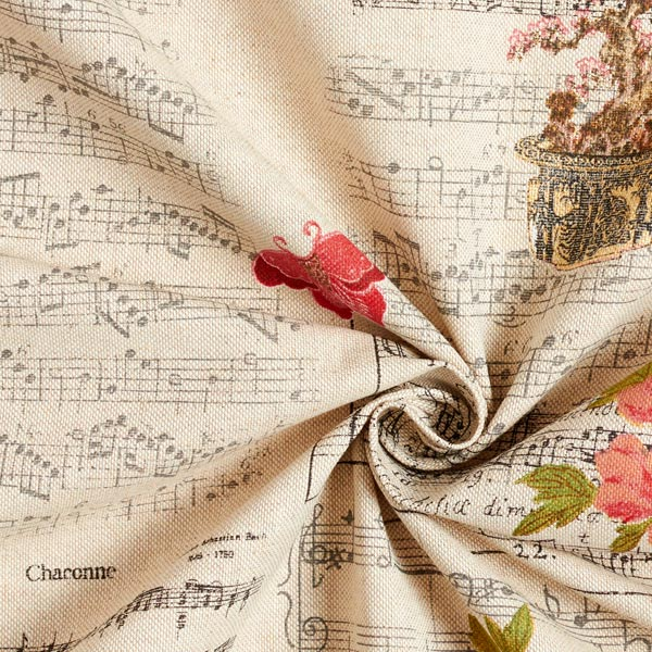 Semi-panama Aspect lin Notes & papillons – nature