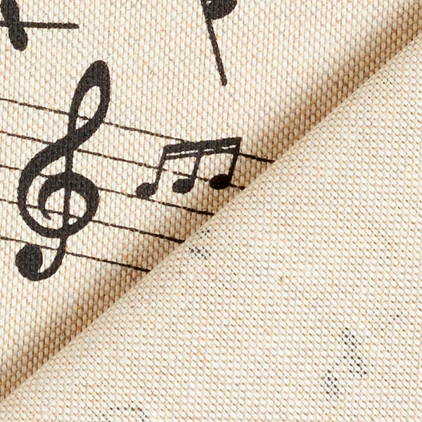 Semi-panama Aspect lin Notes de musique – nature