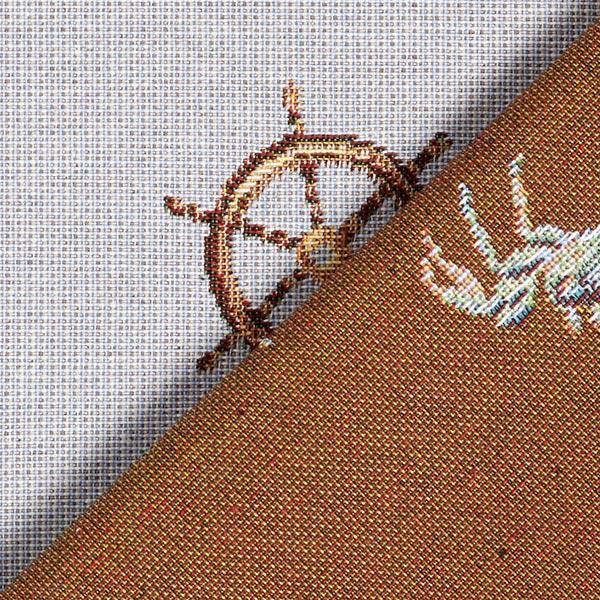 Tissu de décoration Gobelin Equipement nautique – bleu bébé