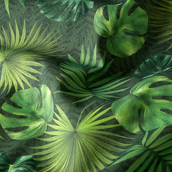 Tissu d'extérieur Feuilles de palmier – olive