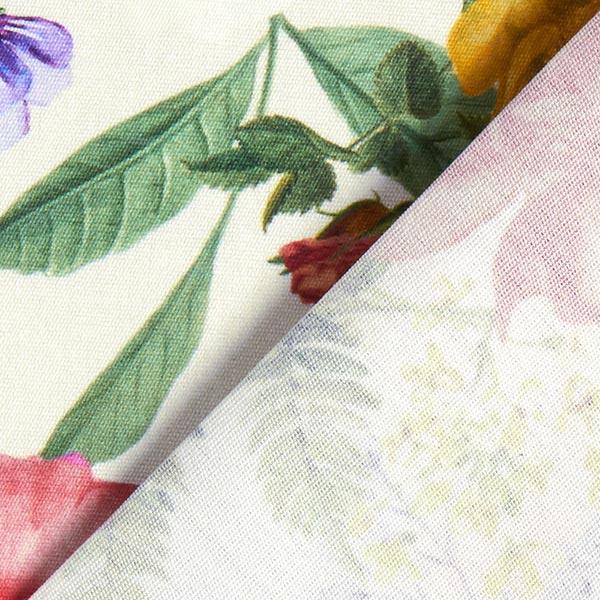 Tissu d'extérieur Roseraie – écru