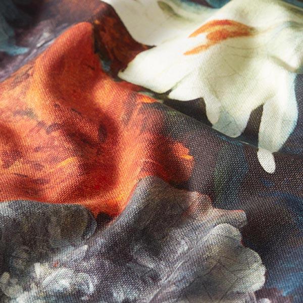Semi-panama Imprimé numérique Roses Age d'or