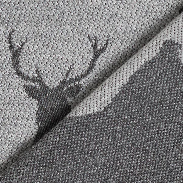 Tissu de décoration Jacquard Cerf – gris