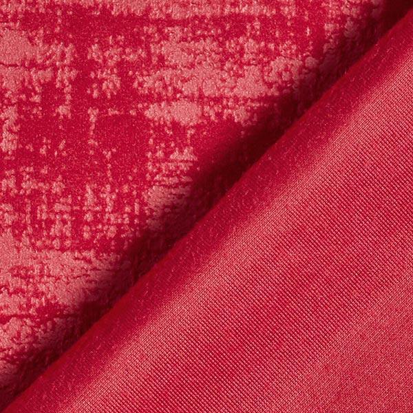 Tissu de décoration Velours Aspect marbré – rouge