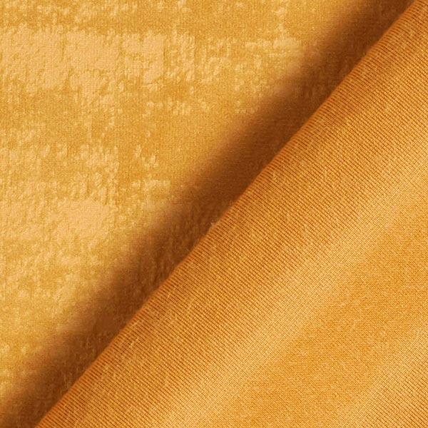 Tissu de décoration Velours Aspect marbré – moutarde