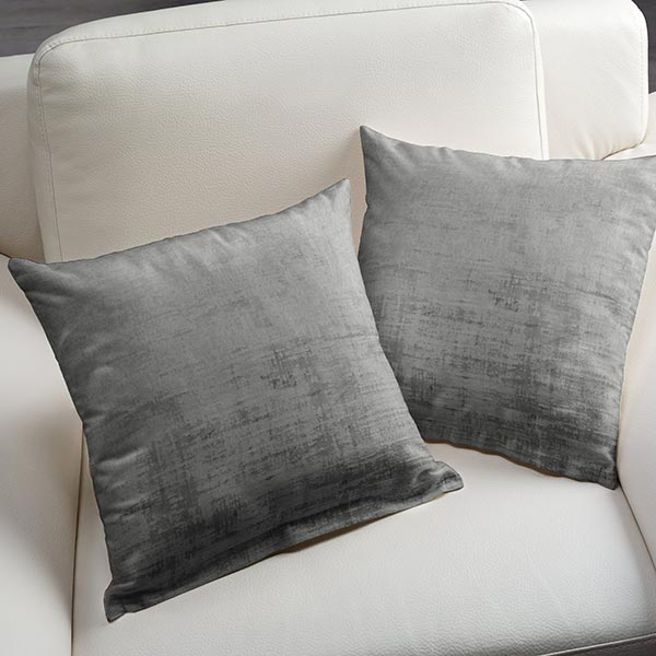 Tissu de décoration Velours Aspect marbré – gris foncé