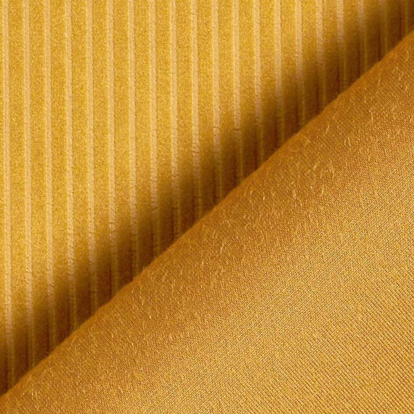 Tissu de décoration Velours Aspect velours côtelé – or
