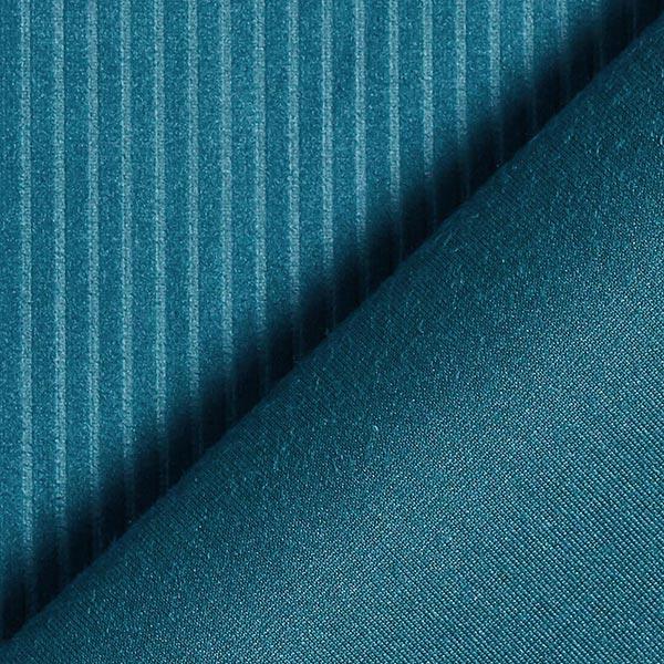 Tissu de décoration Velours Aspect velours côtelé – pétrole