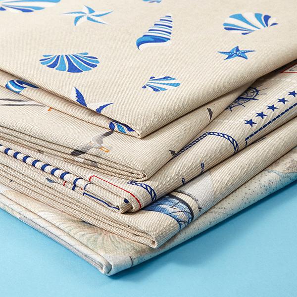 Tissu de décoration Semi-panama Voiliers – nature