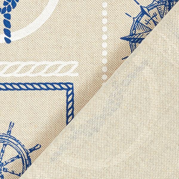 Tissu de décoration Semi-panama Maritime Collage – nature