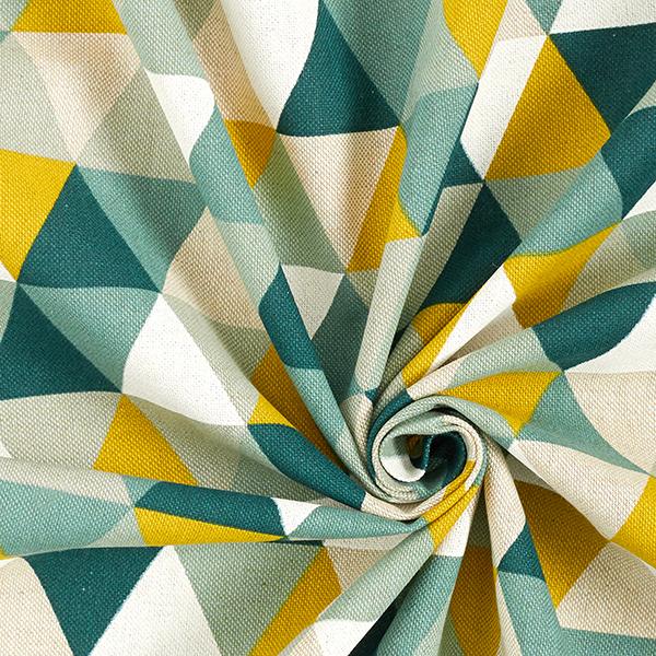 Dekostoff Halbpanama Dreiecke – grün