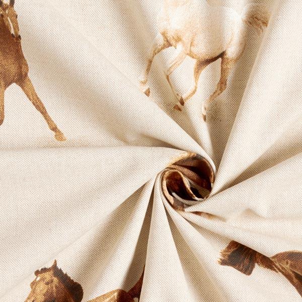 Tissu de décoration Semi-panama Chevaux