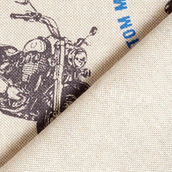 Tissu de décoration Semi-panama Motos