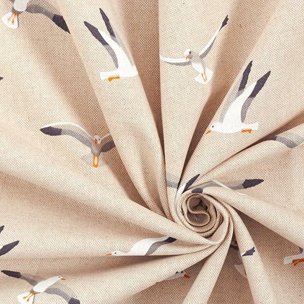 Tissu de décoration Semi-panama Mouettes – nature
