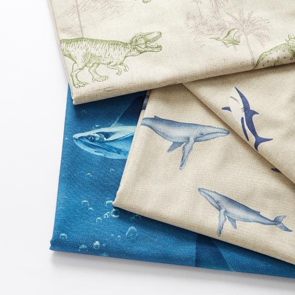 Tissu de décoration Semi-panama Baleine à bosse