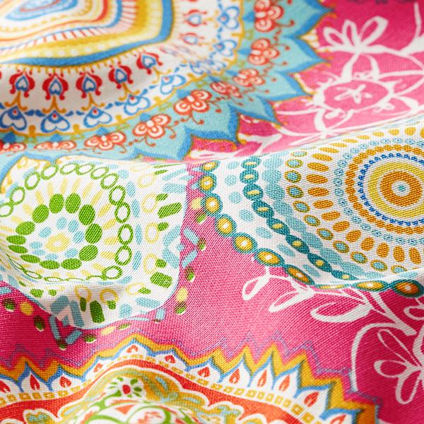 Tissu de décoration Canvas mandalas – rose vif