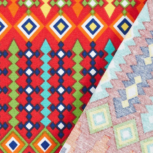 Tissu de décoration Canvas Ethno – rouge