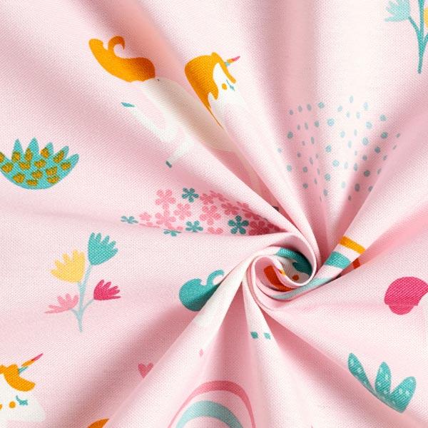 Tissu de décoration Canvas Licornes – rose