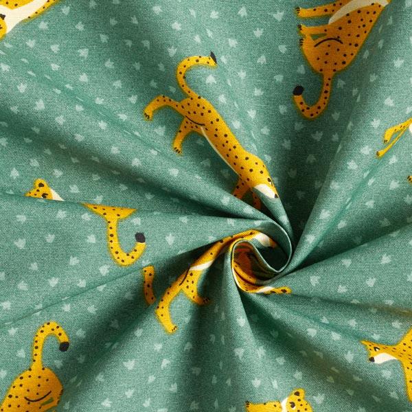 Tissu de décoration Canvas Léopard – vert