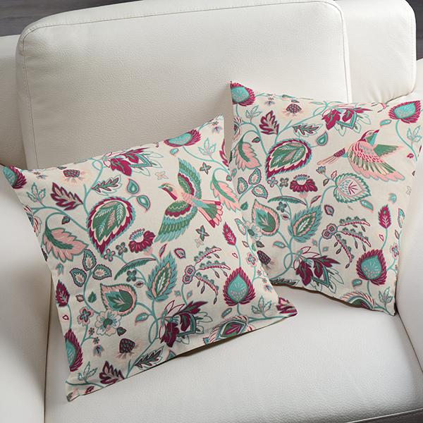 Tissu de décoration Canvas Rameaux – nature