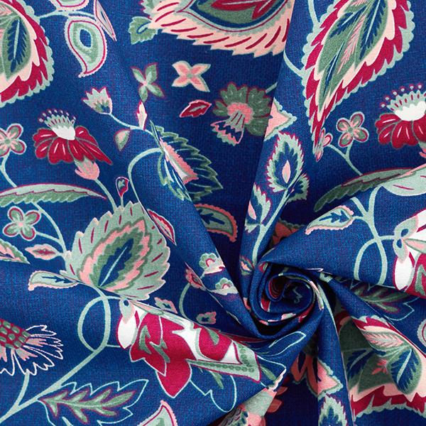 Tissu de décoration Canvas Rameaux – bleu marine