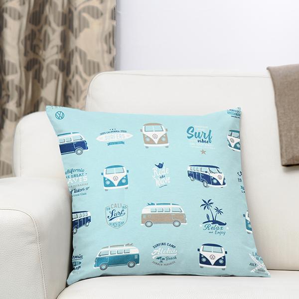 Tissu de décoration Canvas Bulli Surfing – turquoise