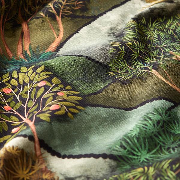 Tissu de décoration semi-panama Impression numérique Paysage – vert