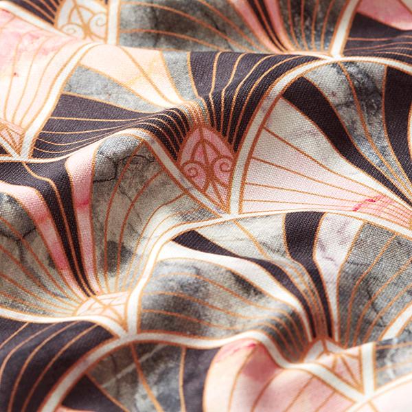 Tissu de décoration semi-panama Impression numérique Marbre – rose
