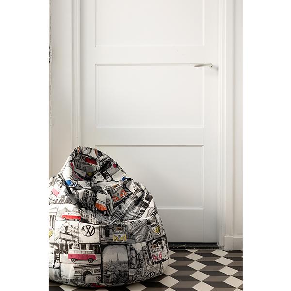 Tissu de décoration Jacquard Bulli – blanc