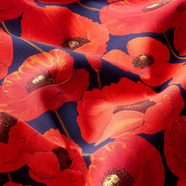 Tissu d'extérieur Coquelicots – rouge
