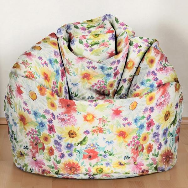 Tissu d'extérieur Fleurs Aquarelle – mélange de couleurs