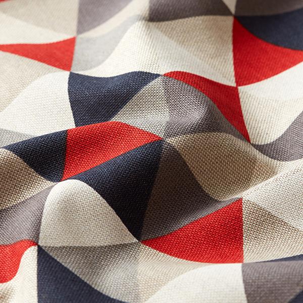 Tissu de décoration Semi-panama Triangles – rouge