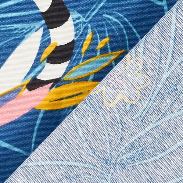 Tissu de décoration Canvas Lémur – bleu