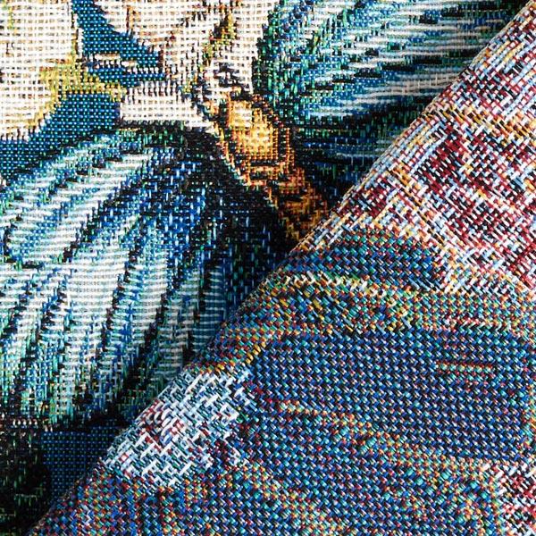 Tissu de décoration Gobelin Paon – pétrole
