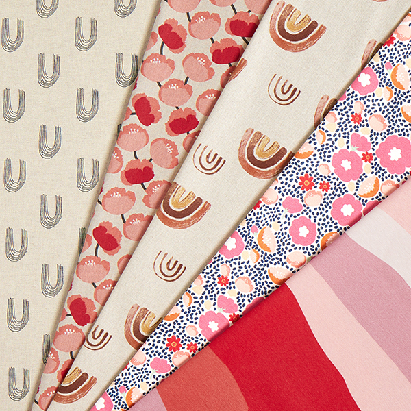 Tissu de décoration Semi-panama Coquelicots – rouge