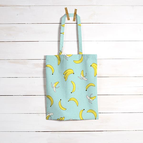 Tissu de décoration Canvas Bananes – turquoise