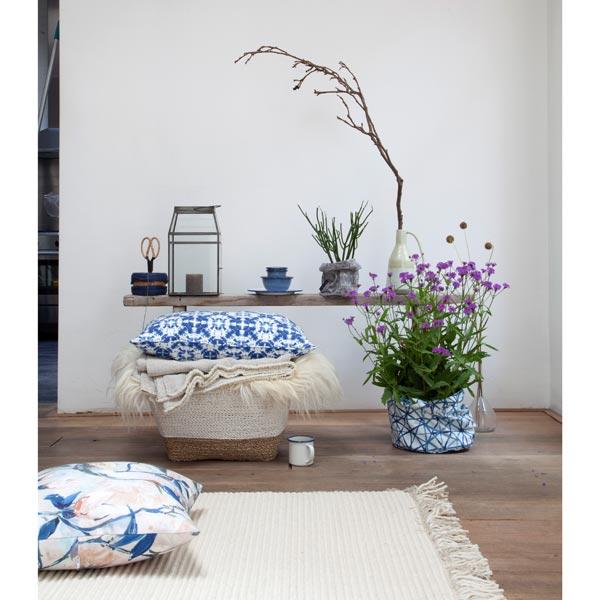 Tissu de décoration Canvas Graphique – bleu