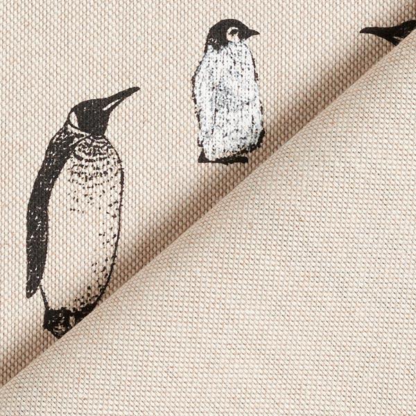 Tissu de décoration Semi-panama Pingouins – nature