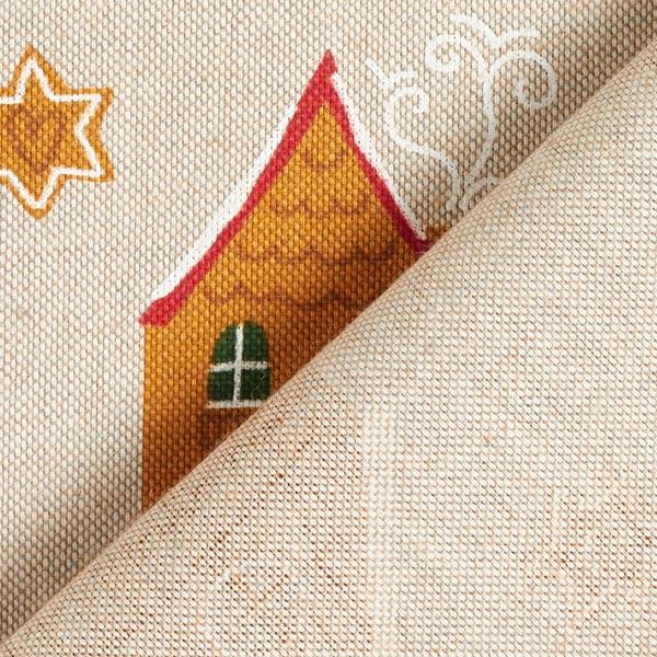 Tissu de décoration Semi-panama Maison en pain d'épices – nature