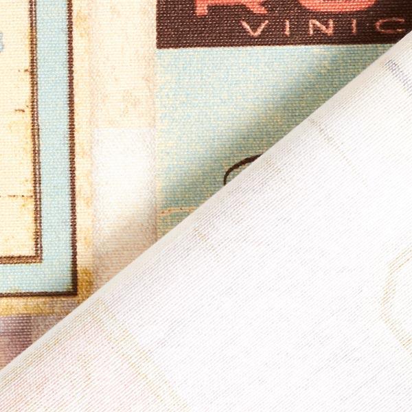 Dekostoff Canvas Weinlabel