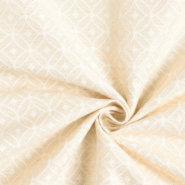 Tissu de décoration Jacquard Ornements scintillants – nature/or